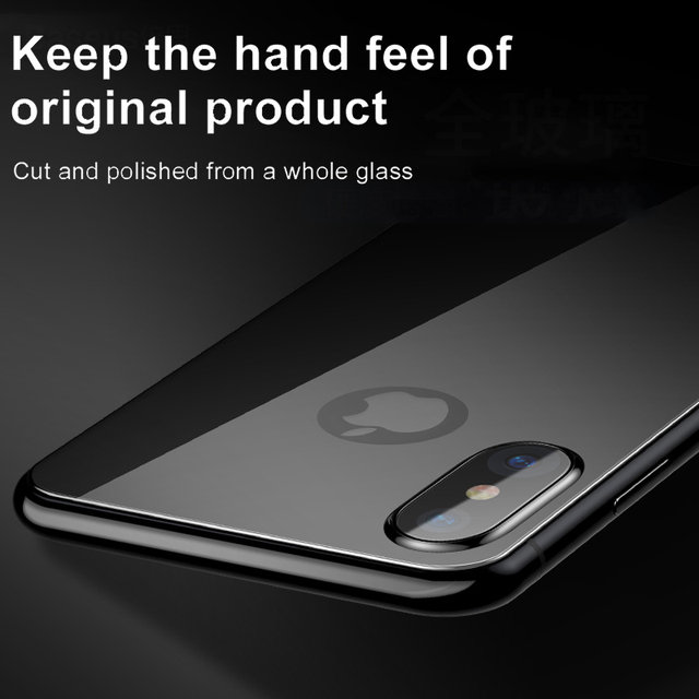 Baseus Back Screen Protector Tempered Glass For iPhone Xs Max XR Full Cover Rear Protection Toughened Glass Film For iPhoneXS 2