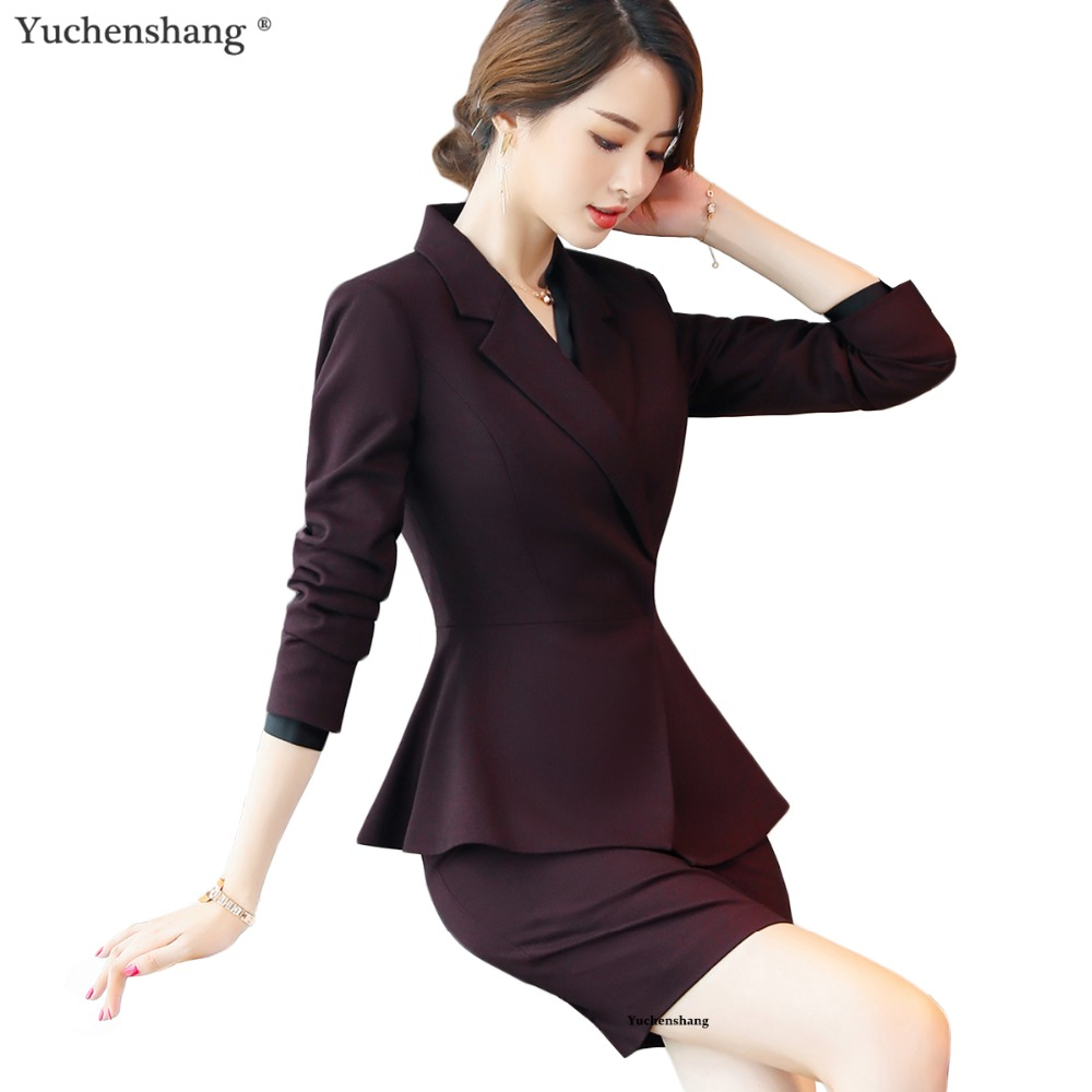 Conceptions Ensemble Uniforme Haute De Qualité wine Suits Et Femmes Wear Skirt Office Pant Formel black D'affaires Suits Pantalon Costume Work Pièce 2 Lady Veste Suits Vin Black Femelle 8OOwd6qrn