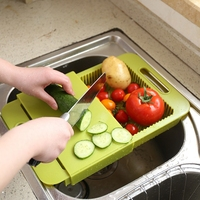 High Quality Kitchen Sink Cutting Boards Wash The Dishes To Wash Cut With The DDrain Basket Chopping Block,Kitchen Supplies.