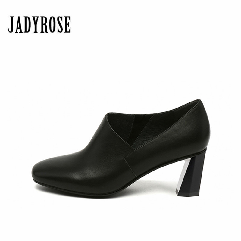 Jady Rose Black Casual Women Shoes Winter Autumn Winter Ankle Boots Gladiator Strange Style High Heel Shoes Women Shallow Pumps