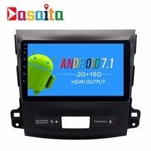 "Dasaita 9 ""Android 7.1 Araba GPS Oyuncu ile Mitsubishi Outlander 2007-2011 için Quad Core 2 GB + 16 GB Oto radyo Multimedya GPS NAV"
