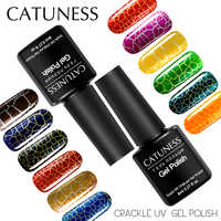 CATUNESS Crackle UV Poly Gel 8 Ml Absorb Lacquer Shiny 12 Colors Soak Off Top and Base Coat Beauty Paint Nail Gel Polish