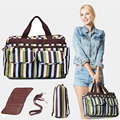 New High-capacity Multi-functional Diaper Changing Bag Waterproof Striped Floral Pregnant Mother Mummy Bag