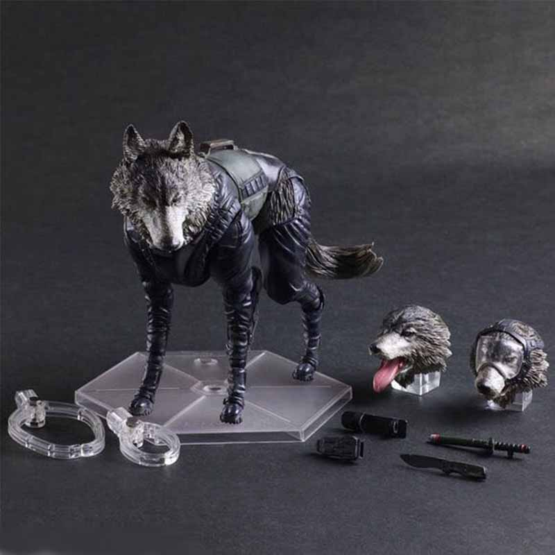 Play Arts KAI Metal Gear Solid V The Phantom Pain D-DOG PVC Action Figure Collectible Model Toy metal gear solid v the phantom pain play arts flaming man action figure super hero