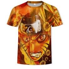 2019 Hot Naruto Tshirt Streetwear Men Summer Amine T-shirt Casual Cartoon