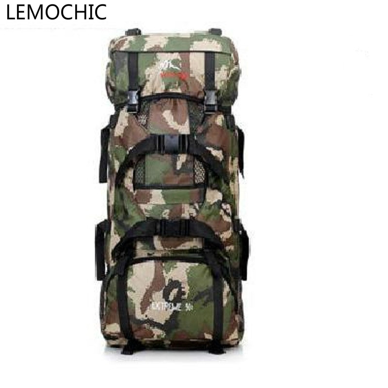 LEMOCHIC large capacity 70l outdoor mountaineering travel hiking Sports Camping backpack High quality Climbing man bag FREE SHIP