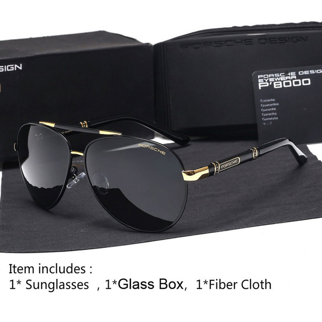 46db511aa0b7 Glexal New High End Polarized Sunglasses Sunglasses Men Retro Frame Sunglasses  Driving Mirror