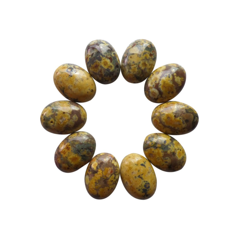 (Min.order 10$ mix)10pcs Beautiful 18x13x5mm Leopard Skin Stone Oval CAB CABOCHON ZJ127290