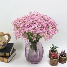 40 см настоящий сенсорный Искусственный детский дыхательный венок цветок PU декор для свадебного домашнего стола вечерние рождественские подарки поддельные цветы 3 цвета