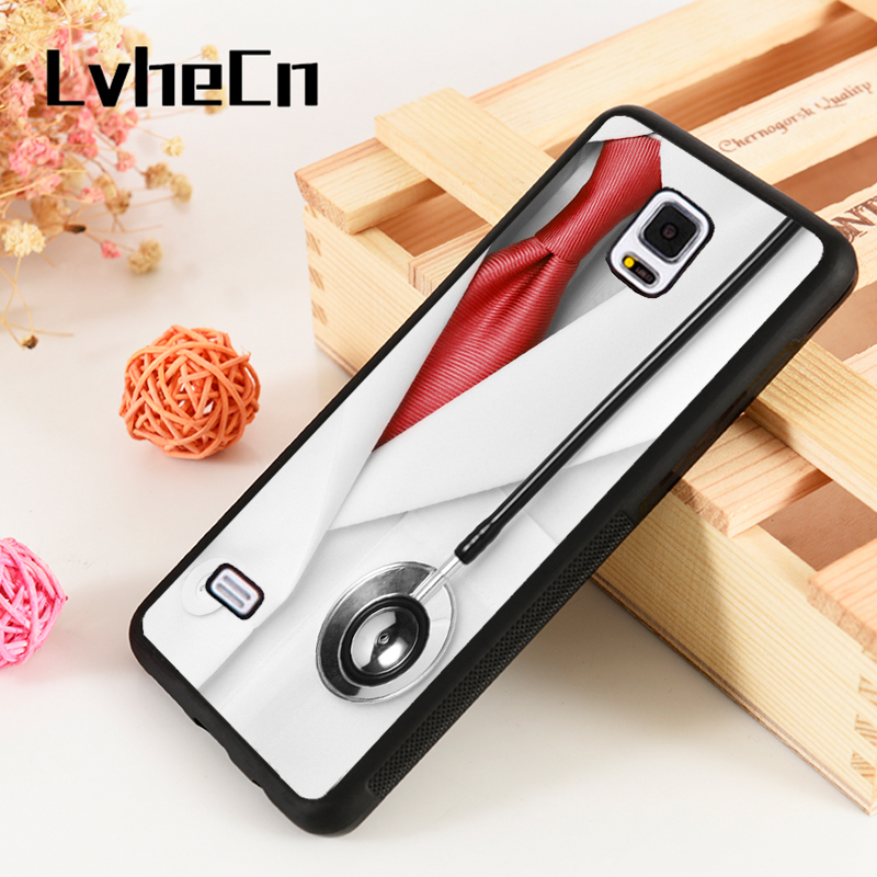 Fitted Cases Beautiful Lvhecn S3 S4 S5 Phone Cover Cases For Samsung Galaxy S6 S7 S8 S9 Egde Plus Note 4 5 8 9 Soft Silicone Doctor Coat Stethoscope Pleasant To The Palate