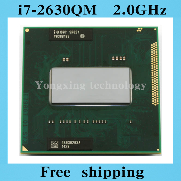 Core i7 2630QM 2.0GHz 6M Quad Core eight threads SR02Y 2630 Notebook processors Laptop CPU PGA 988 pin Socket G2