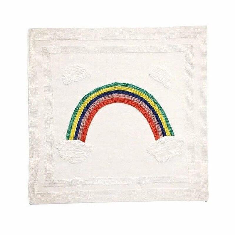 ᑎ‰Nuevo Arco Iris bebé Mantas algodón recién nacido punto manta de ...