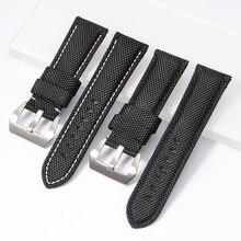 22mm 24mm 26mm High Quality Nylon Fabric Blue Black Canvas Watchbands For PAM441 111 Watch Strap Band Men's Wrist Watch Bracelet