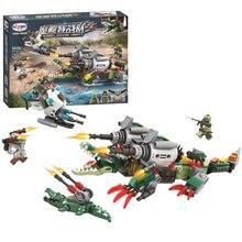 NEW Super Heroes Armed Crocodile Killer Croc Building Block Set Classic Marvel Movie Kids Toys Compatible Legoings
