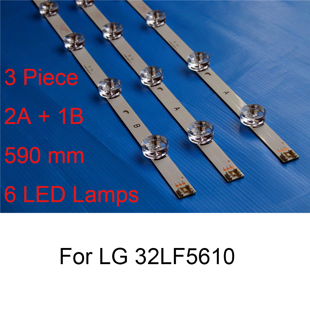 3Piece Brand New LED Backlight Strip For <font><b>LG</b></font> <font><b>32LF5610</b></font> 32 inch TV Repair LED Backlight Strips Bars A B TYPE Strip Original Quality image