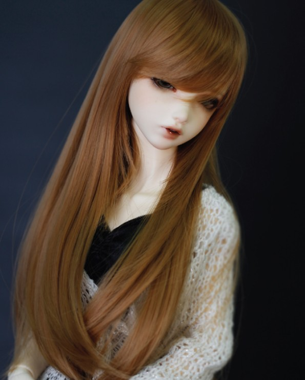 2018 Gaya terbaru 1/4 Bjd Rambut palsu Sj Tinggi Sj Panjang Bjd SD - Anak patung dan aksesori - Foto 3