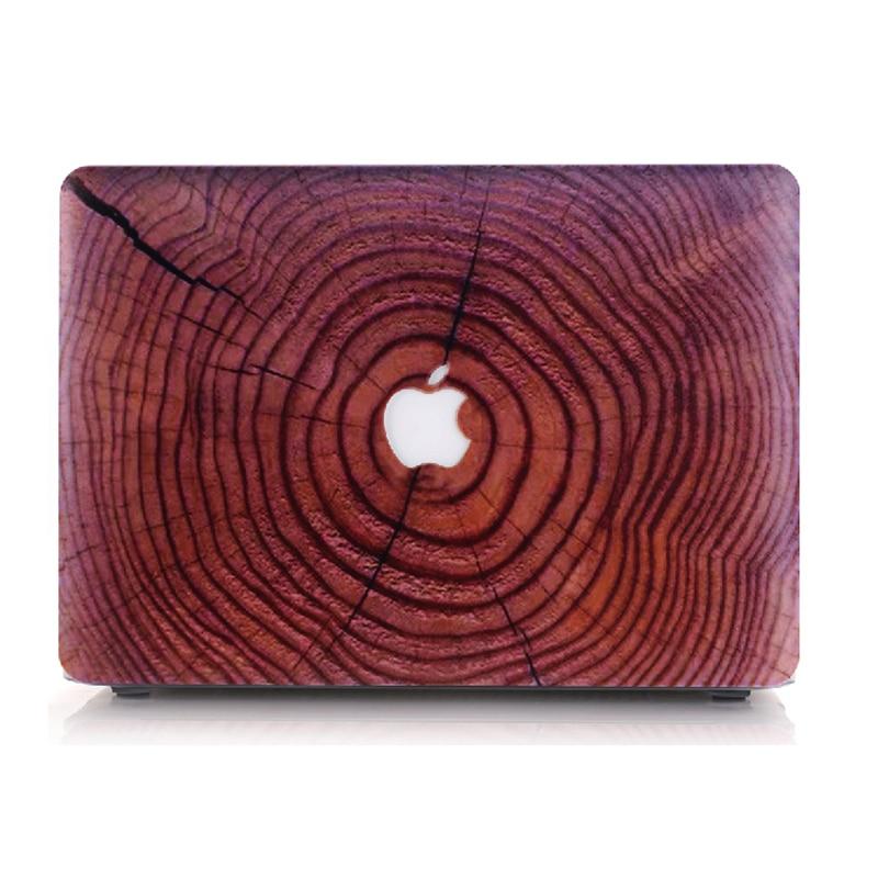 NAUJAS medienos grūdų plastikinis dangtelis Macbook Air 11 13 Pro - Nešiojamų kompiuterių priedai - Nuotrauka 2