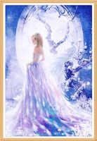 Pavo Real vestidos de princesa de 40X60cm Pittura de diamante punto croce diamante pieno ricamo europa casa decoración trapano