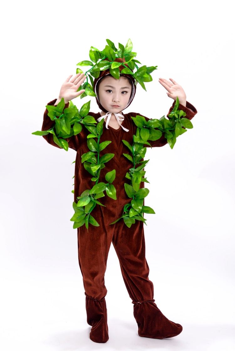 New Children's Dance Clothes Grass Play Costume Plant Clothes Big Tree Small Tree Costume Children's Animal Performance Clothing