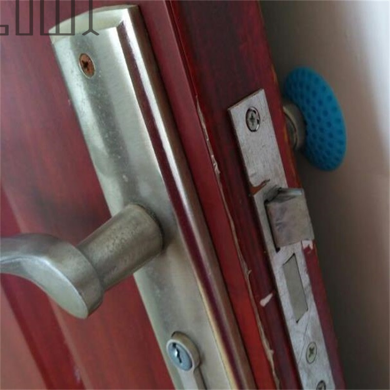 1pcs Door post wall thickening The handle mute lock after the cushion protection wall sticker love is in the hair carving cutting wall sticker