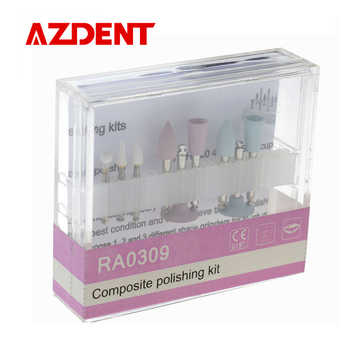 Promotion 10 pack Dental Lab Composite polishing Kit RA0309 Low-speed Handpiece Bistrique rotary Burr Grinding head