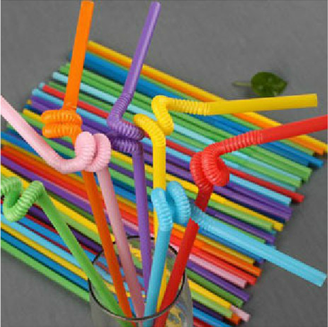 Free shipping color magic art art straw colored straws for Plastic straw art
