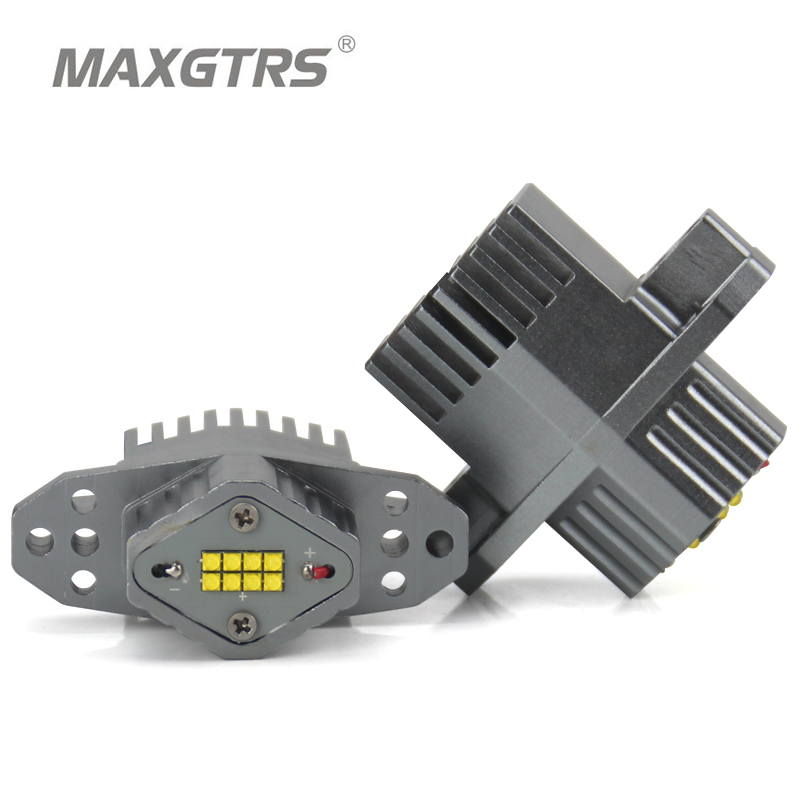 MAXGTRS 2 Pieces(1 Set) 2*80W 160W LED Marker Angel Eyes Halo Light High Power CREE LED Chips XENON White For BMW E90 E91 LCI