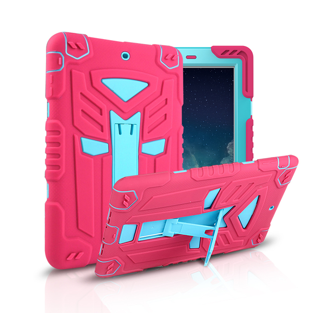 For Apple ipad 2 3 4 Case Military Transformer Hybrid Shockproof Cover For New ipad 3 ipad 4 PC Silicone Smart Stand Holder Case