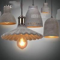 Винтажный промышленный E27 LED цемент Лофт кафе бар магазин зал клуб потолок Люстра Droplight лампа освещение домашний декор