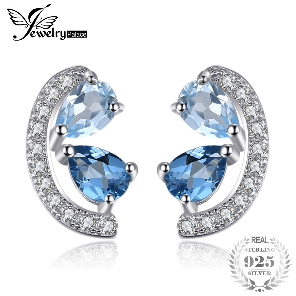 JewelryPalace Genuine Sky Blue Topaz and London Blue