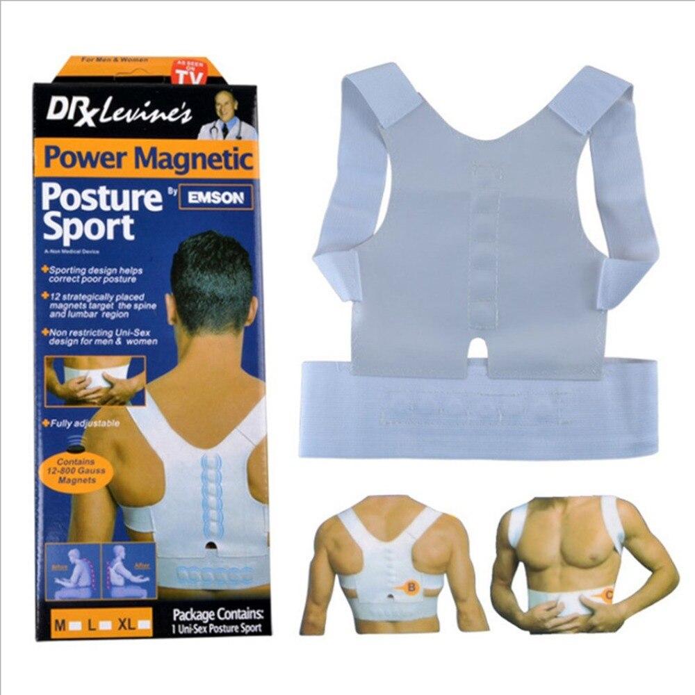Support-Corrector Back-Brace-Belt Magic-Strap Elastic Posture Power Magnetic Adjustable