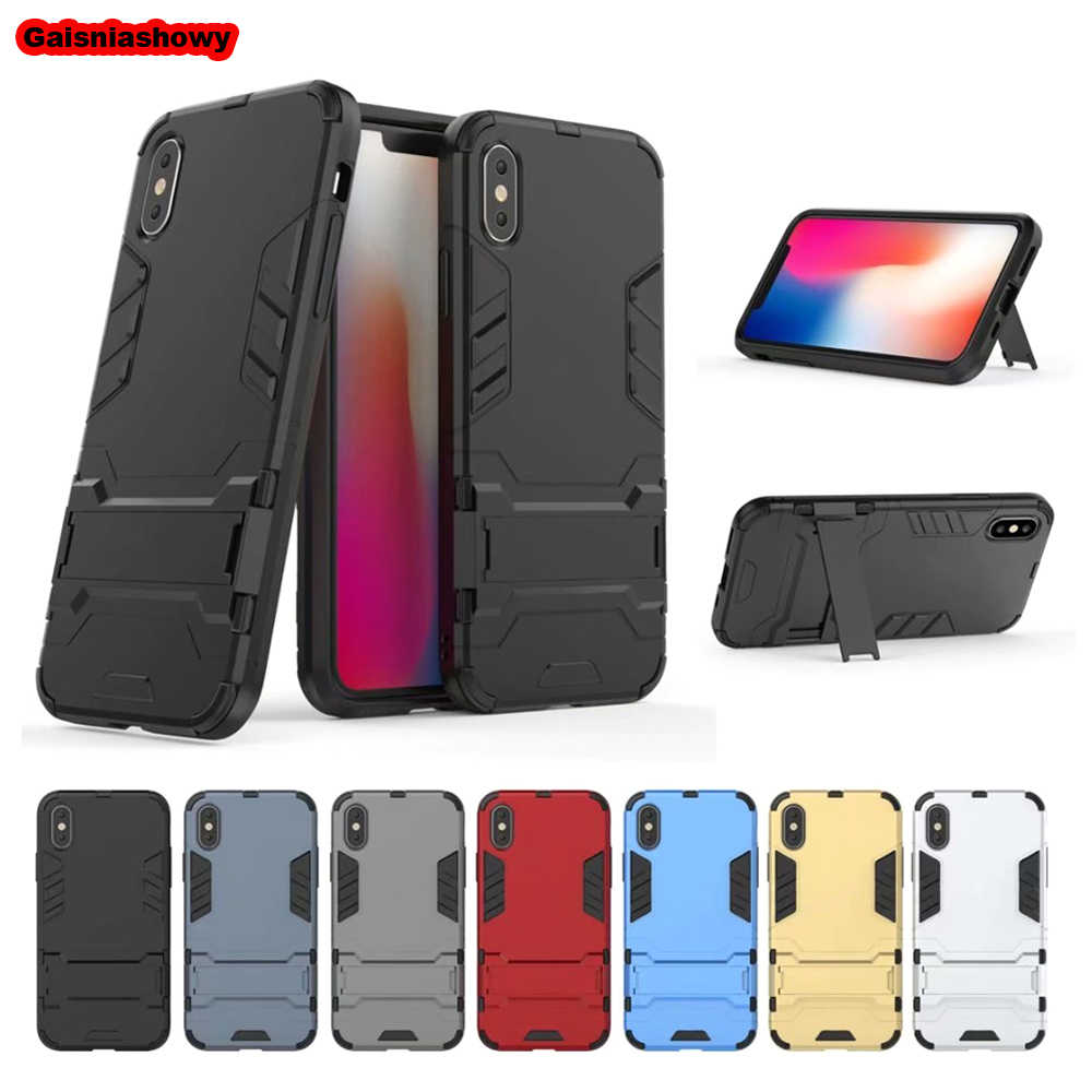 Shockproof Armor Case For iPhone X XS XR MAX 6 6S 7 8 5 5s 5c SE Plus Hard PC With Silicone Phone Case Cover
