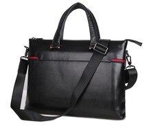 "Maxdo Good Quality Black 100% Guarantee Genuine Leather Men Messenger Bags Briefcase 14"" Laptop Bag Portfolio #M7246"