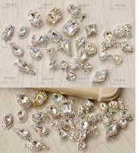10 pçs 3074-3093 20 projetos escolha strass claros decoração da arte do prego 3d charme liga jóias de prata