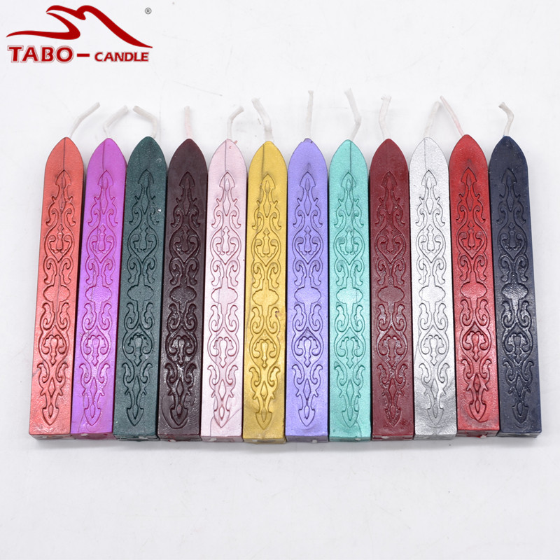 10 Pcs Christmas Gift Box Decoration Sealing Wax Stick In 32 Rich Colors Stick with Wick for DIY Manuscript Stamp classic red gold white sealing wax stick 16 pcs box with 20w hot glue gun for diy envelope decoration