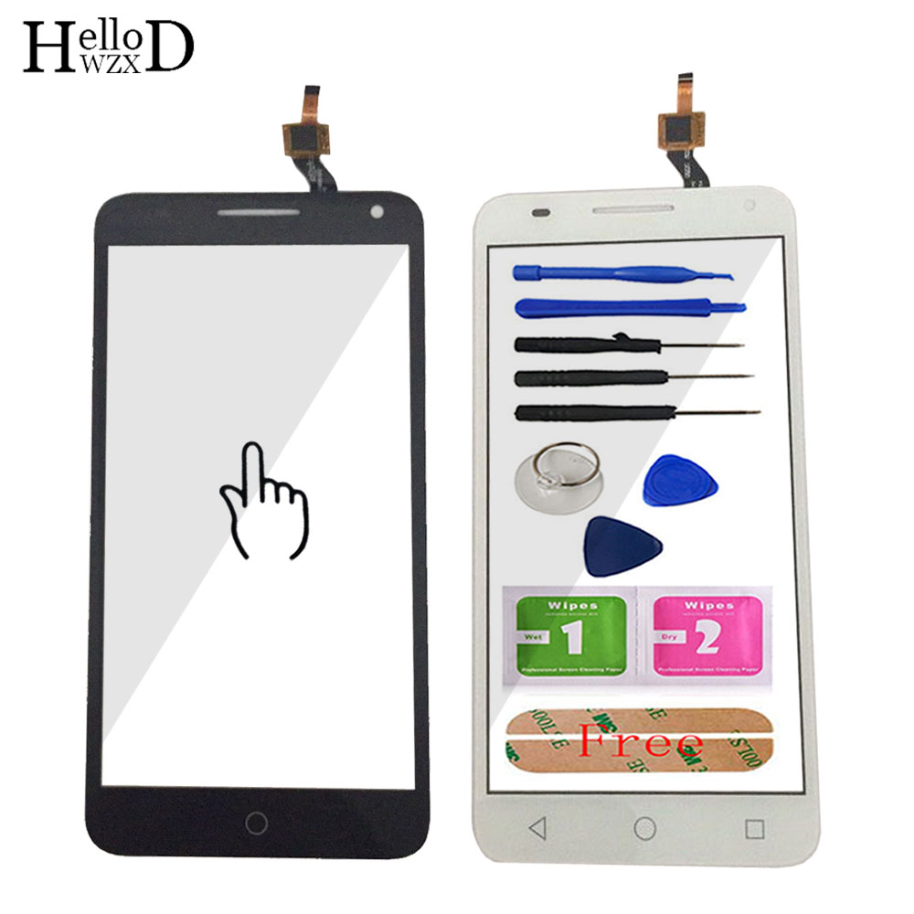 Touch Screen For Alcatel One Touch Pop 3 5.5 OT5025 5025D 5025 Touch Screen Panel Digitizer Sensor Outer Front Glass Adhesive