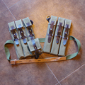 GERMAN WW2 TROPICAL LBE BELT, Y STRAPS AND MP 38/40 POUCHES DE/10709