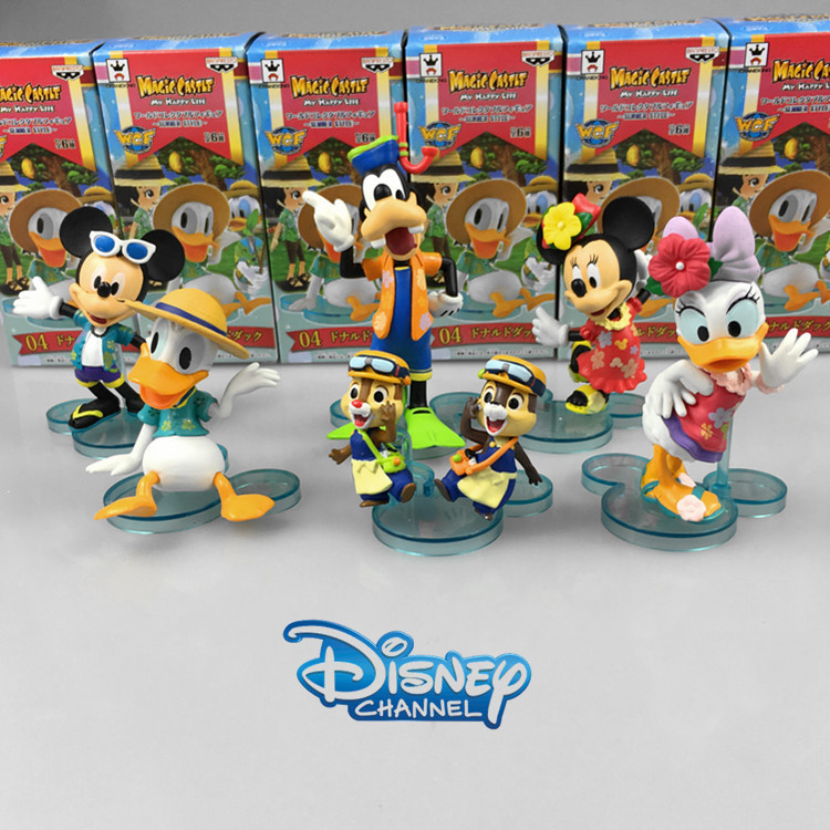 Disney Products Cute Cartoon Mickey Mouse Donald Duck Action Figures 6 Cm Model Dolls Juguetes Brinquedos 6 Pcs/Set Zy023 patrulla canina with shield brinquedos 6pcs set 6cm patrulha canina patrol puppy dog pvc action figures juguetes kids hot toys