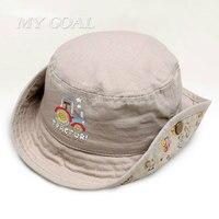New Fashion Baby Bucket Hats Fishing Cap Children Cotton Sun Caps Boys Baby Hat 2016