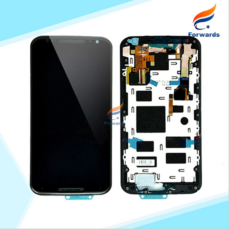 5pcs/lot free DHL/EMS for Motorola Moto X+1 X2 XT1092 XT1095 XT1097 LCD Display with Touch Screen Digitizer Assembly with Frame 2016 sale rushed 10pcs free dhl ems for motorola moto xt1254 touch digitizer lcd display 100
