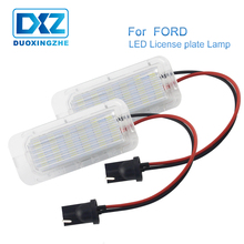 цена на DXZ 2Pcs LED Rear Number License Plate Light Error Free For Ford 5D Fiesta Kuga S-MAX C-MAX Mondeo Galaxy Grand Jaguar 12V 24V