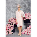 Vestido de madrinha Lace Mother of the Bride Dresses with Jacket Keen Length Chiffon Bedaed Wedding Evening Party Grooms Gowns