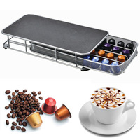 4 Rows Drawer Storage Rack 40Pcs Coffee Capsule Pod Holder Base Stand For NESPRESSO Coffee Machine Home Kitchen Appliance Parts