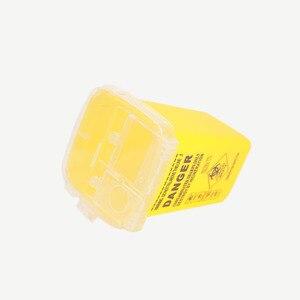 Image 5 - 1L Capacity Sharps Container Medical Needles Bin Biohazard Tattoo Piercing Needles Disposal Collect Box Tattoo Artist Waste Box