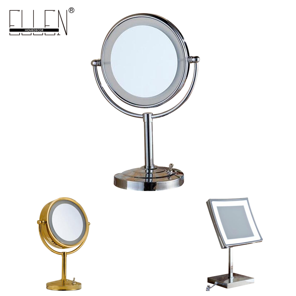 Led 8 Inch Bathroom Mirror With Led Light 2 Face Deck Makeup Mirror Bath 3 X Magnification In