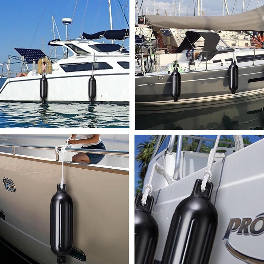 Boat Fender UV Protected Vinyl Inflatable Soft Bumper Mooring Protection PVC 4 Sizes For Yacht Speedboat Boat Accessories Marine