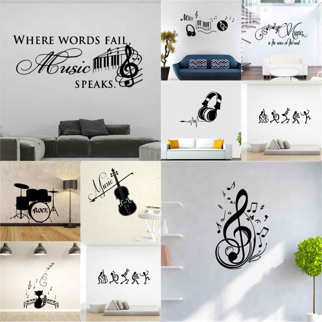 NEW Music Decorative Sticker Waterproof wallstickers for kids room decoration bar Home Decor Wall Decal wallpaper