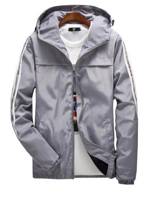 yizlo jacket windbreaker men women jaqueta masculina striped college jackets