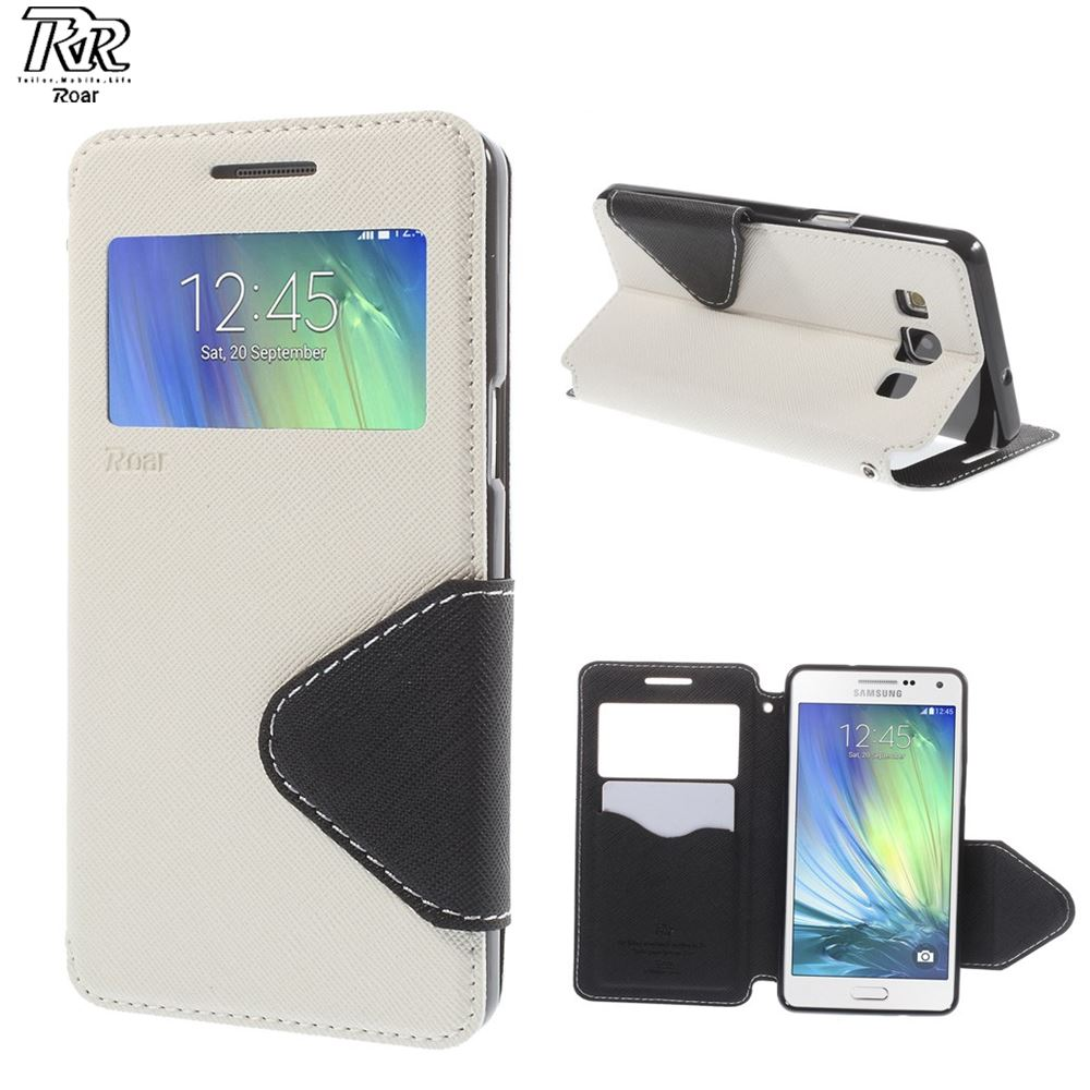 RR For Samsung A5 2015 Roar Korea Diary View Leather Flip Cover for Samsung Galaxy A5 2015 A500 A500F A5009 - FREE SHIPPING