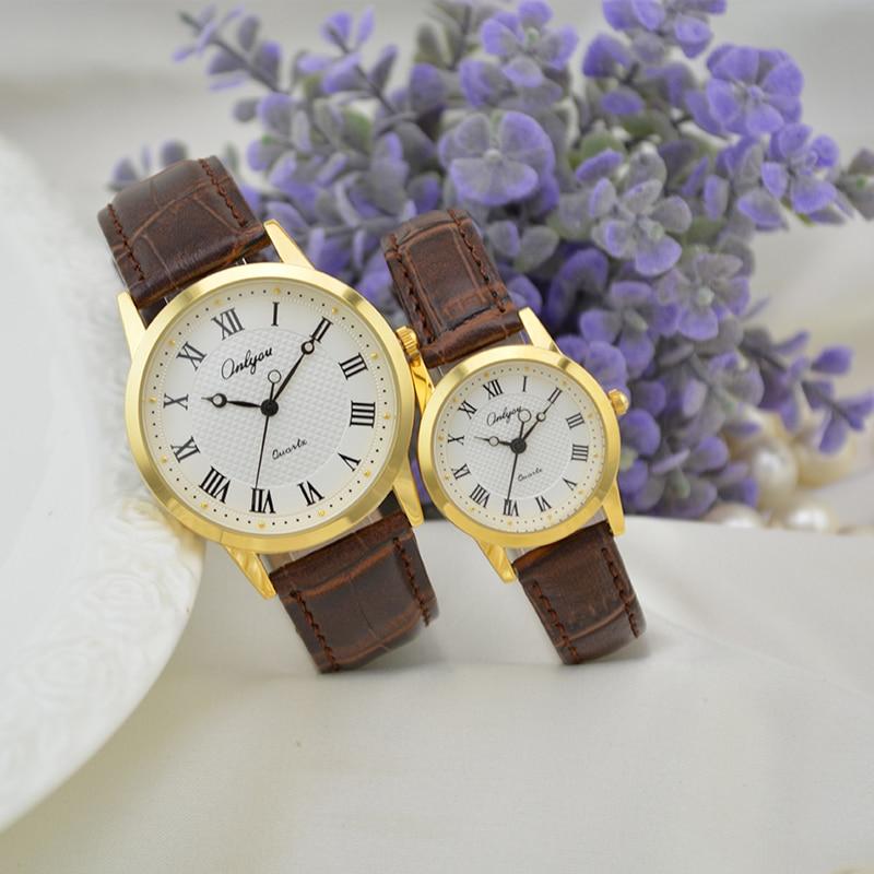 Onlyou Brand Fashion Casual Leather Quartz Watches Men Women Lovers Watch For Boys Girls Wristwatches Ladies Watch Clock 8855